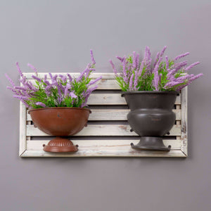 Dual Urn Wall Planter - Red & Black