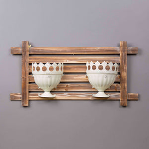 Dual Urn Wall Planter - White