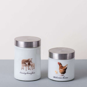 'Country House Farm' Kitchen Canister