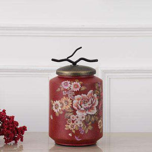 'Spring Meadow' Decorative Lidded Jar - Small