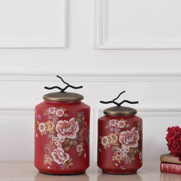 'Spring Meadow' Decorative Lidded Jar - Large