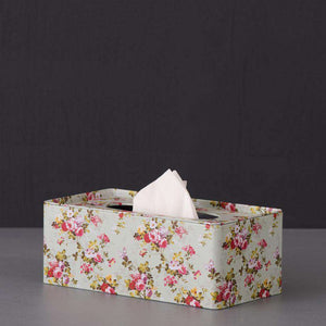 'Orchid' Floral Tin Tissue Box