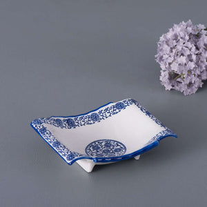 Vintage Blue and White Serving Bowl (Rectangular) - Small
