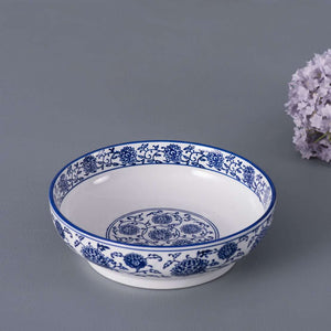 Vintage Blue and White Serving Bowl - 9""