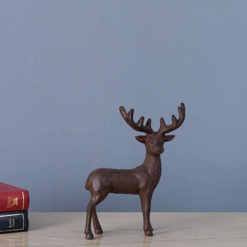 Stag Cast Iron Figurine