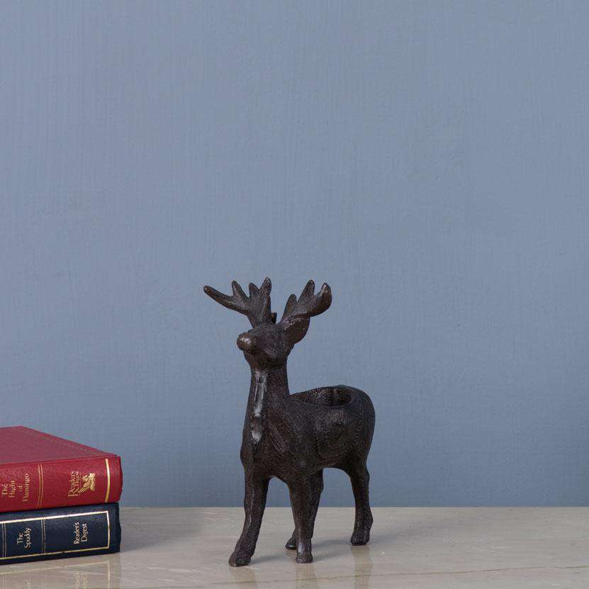 Stag Cast Iron Tea-Light Holder