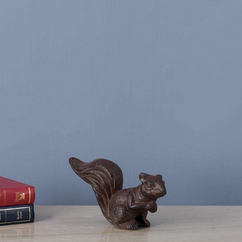 Squirrel Cast Iron Figurine