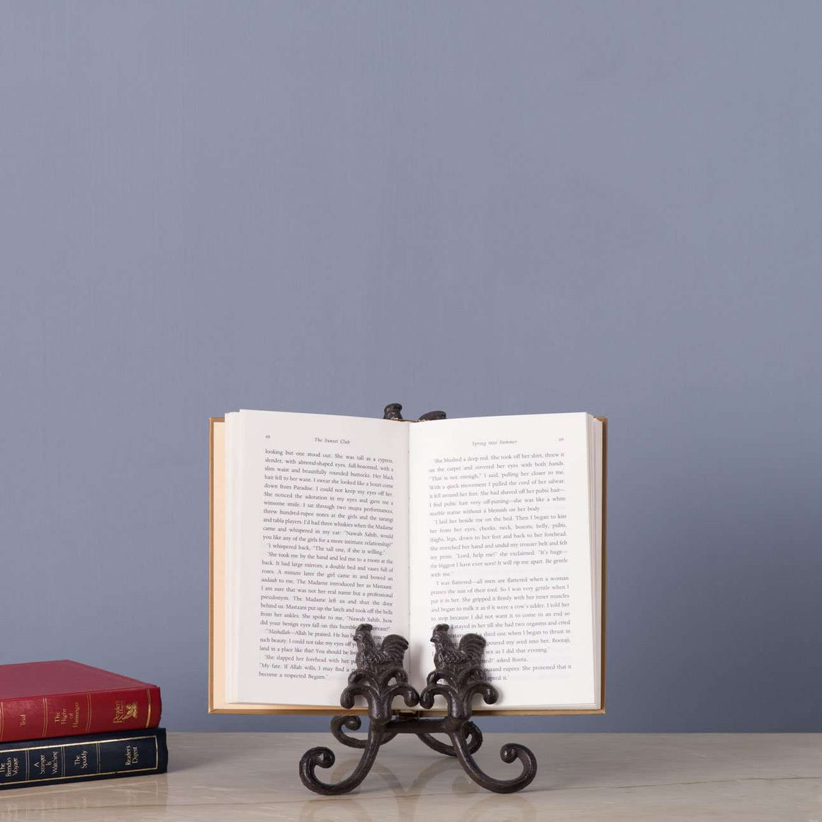 The Rooster Rustic Cast Iron Book Holder