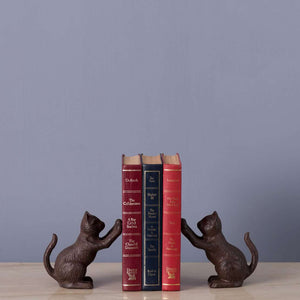 Nine Lives - Cast Iron Bookend
