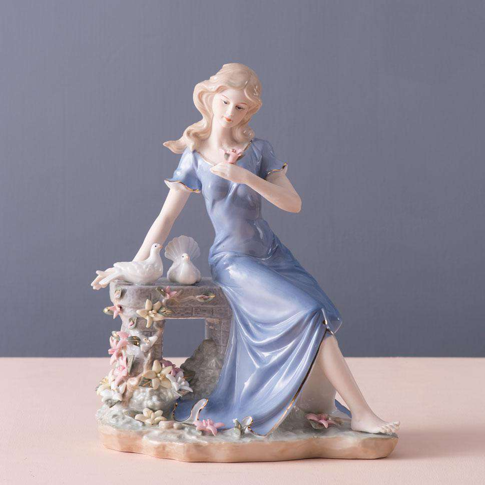 Time for Reflection - Fine Porcelain Figurine