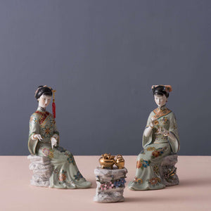 Princess at Tea Time - Fine Porcelain Figurines