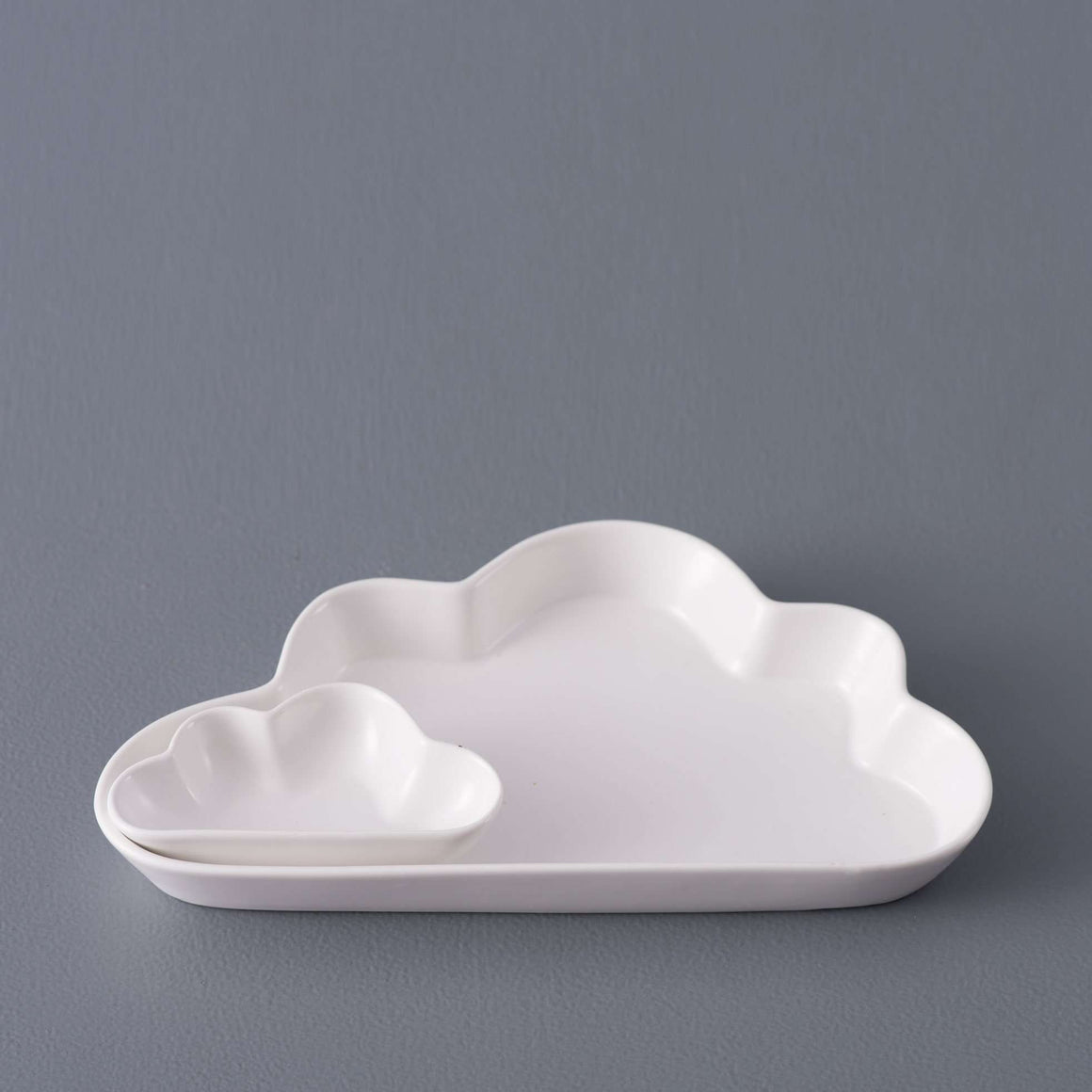 Cloud 2-Piece Chip and Dip - White