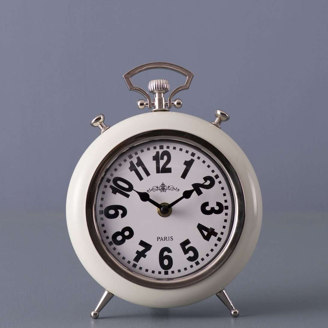 Chateau - White Table Clock