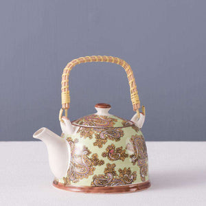 Green Paisley - Ceramic Tea Kettle