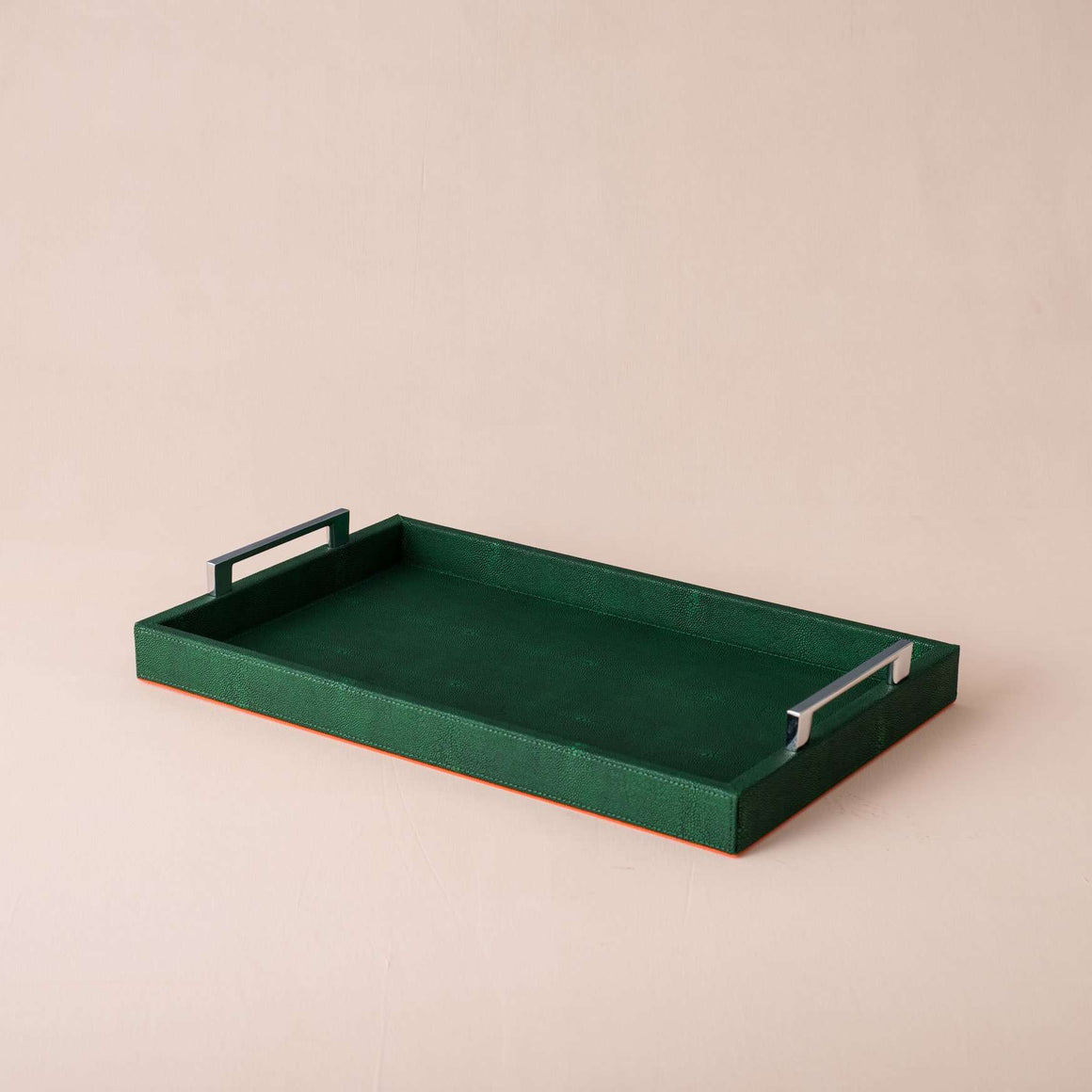 Emerald - Faux Leather Decorative Tray
