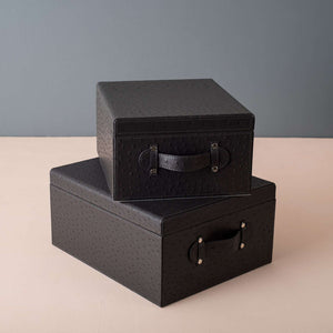 Notting Hill - Set of 2 Faux Leather Boxes