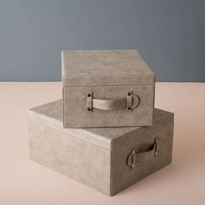 Ashton - Set of 2 Faux Leather Boxes