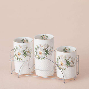 Camellia - 4-Piece Utensil Holder with Caddy