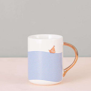 The Sail - Blue Striped Mug