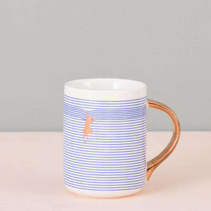 The Cat - Blue Striped Mug