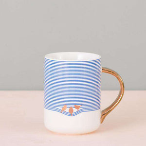 The Bird - Blue Striped Mug
