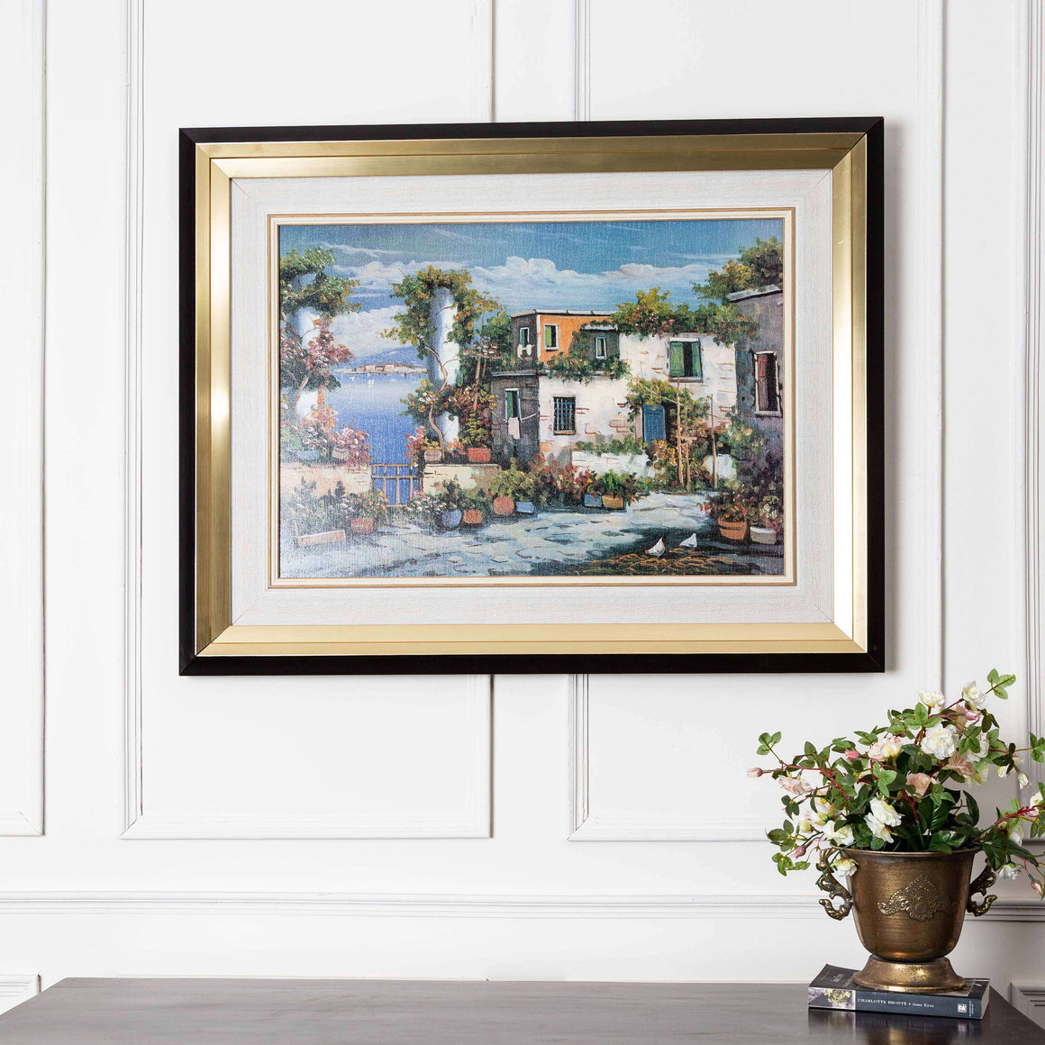 European Townscape - Black & Gold Framed Art