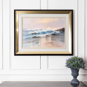 Shoreline - Black & Gold Framed Art
