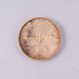Vintage World Map Clock