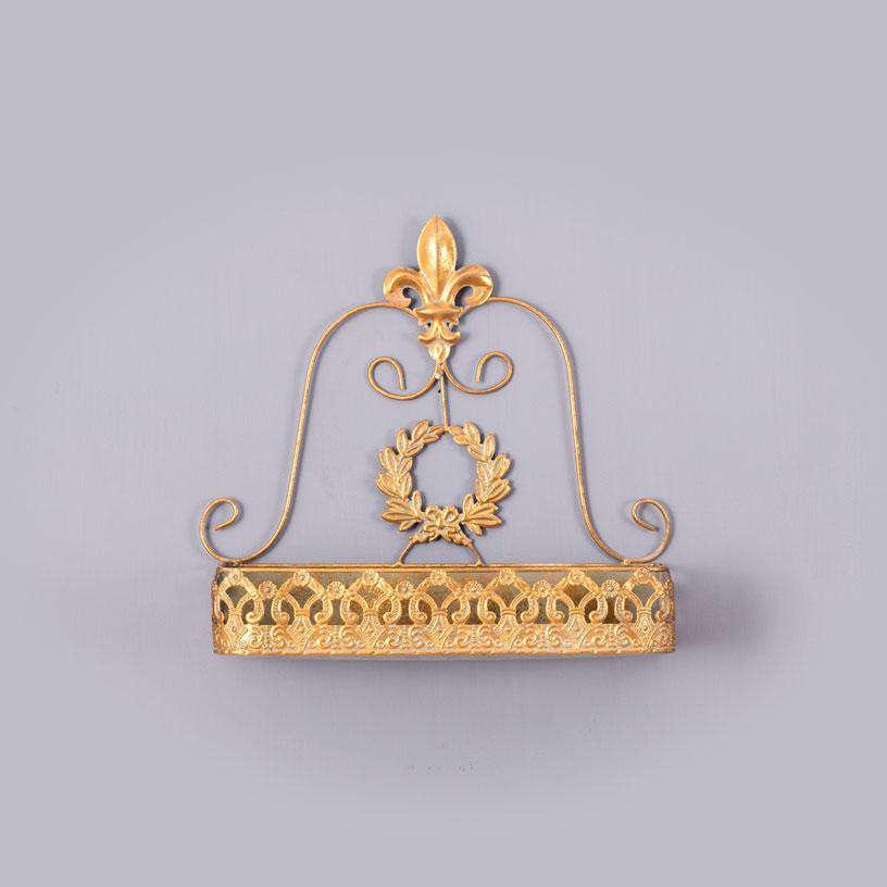 'Ornamental' Gold Wall Shelf - Large