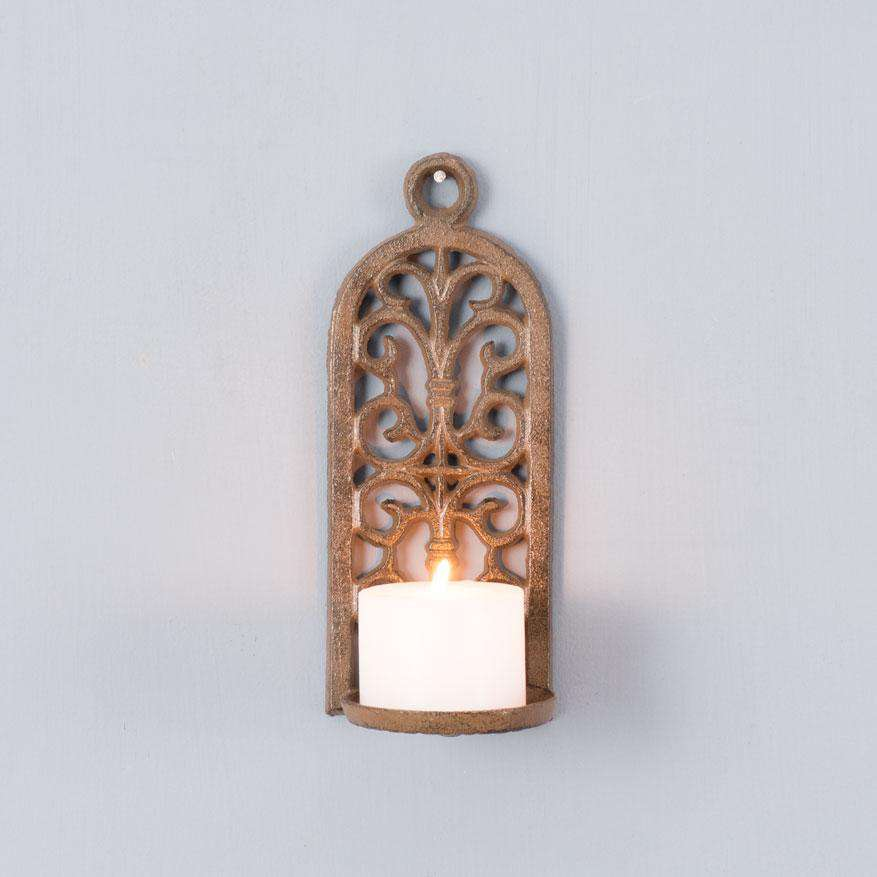 Manor Rustic Cast Iron Wall Sconce Thedecorkart