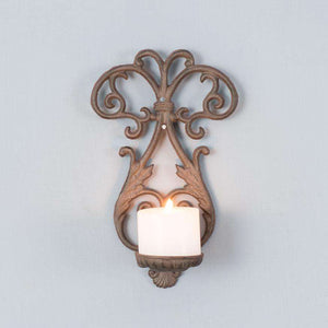 'Venetia' Rustic Cast Iron Wall Sconce