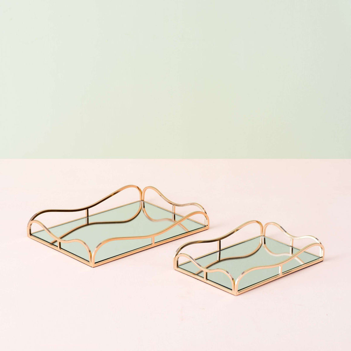 Aurum I - Mirrored Serving Tray - Small
