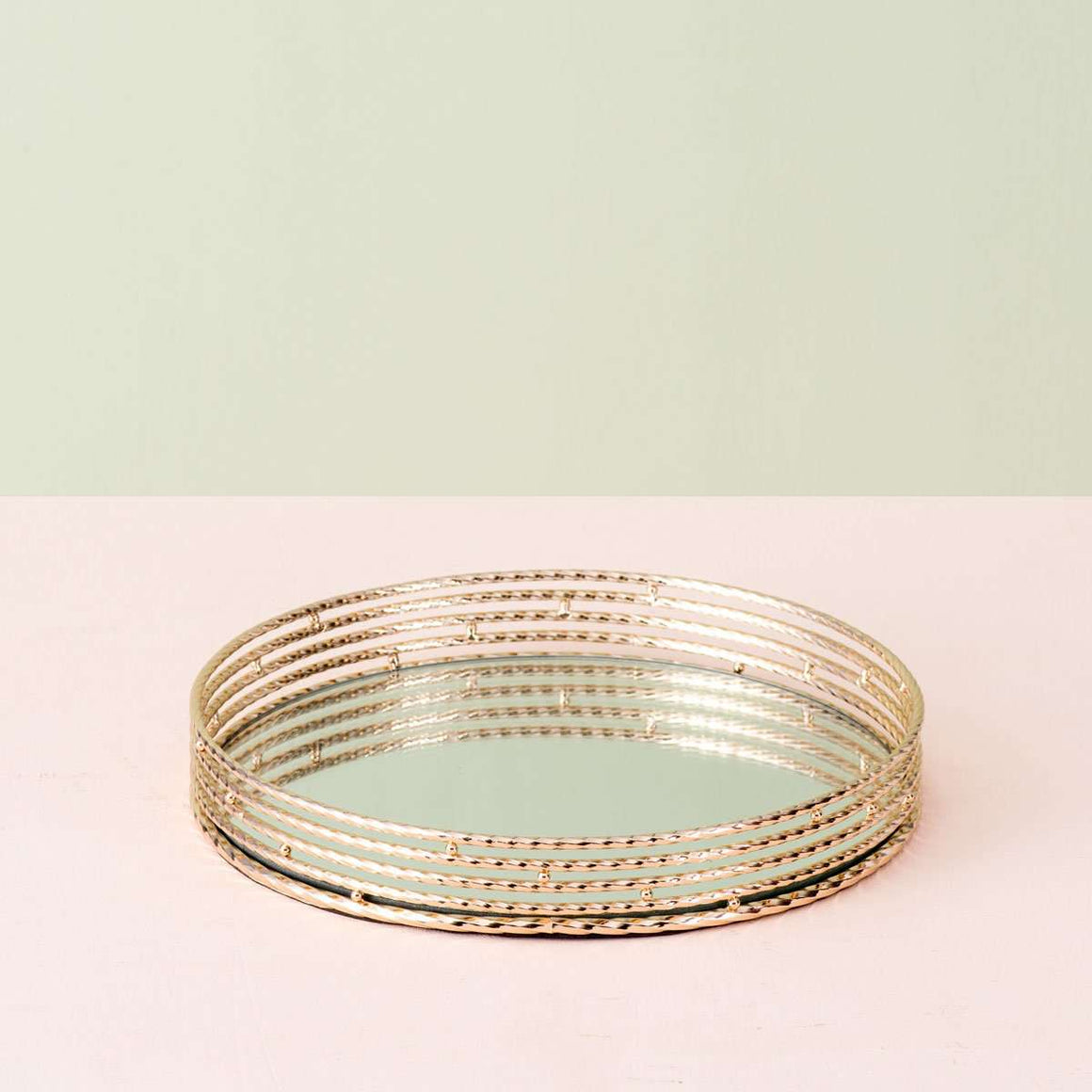 Roped - Mirrored Serving Tray