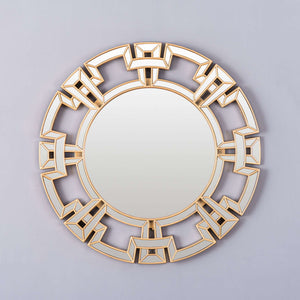'Reflections' Contemporary Round Mirror
