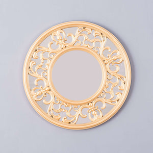 Regal Champagne Gold Round Mirror