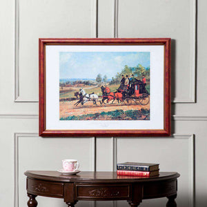 'Caleche Tiree Par Quatre Chevaux' by Henry Alken (1785-1851) - Framed Italian Art
