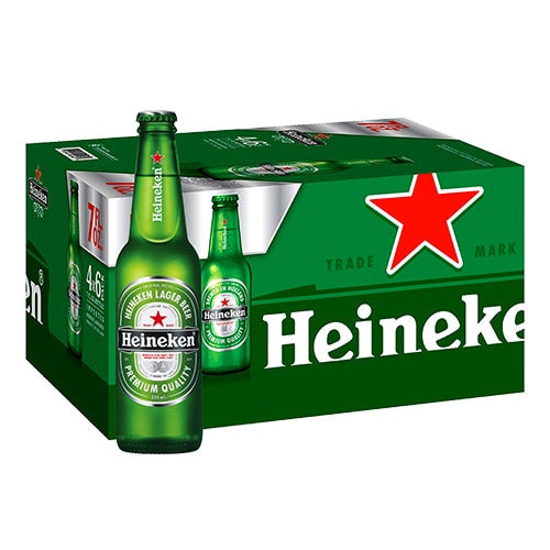HEINEKEN LAGER BEER (24 BOTTLE CARTON)