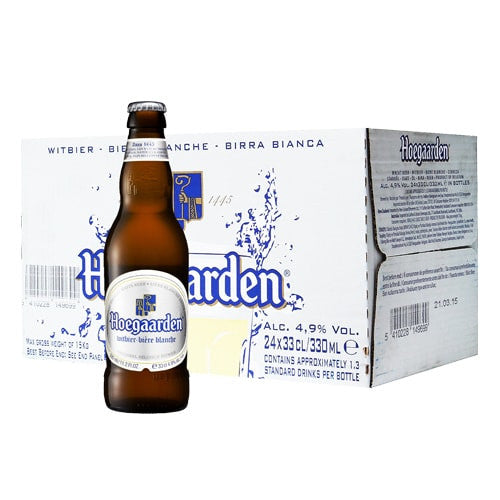 HOEGAARDEN WHITE BEER (330ml x 24 BOTTLE CARTON) | Beer | NOX EXPRESS