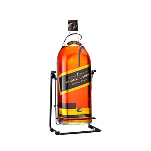 JOHNNIE WALKER BLACK LABEL WITH CRADEL