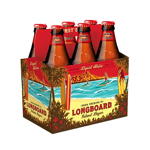 KONA LONGBOARD LAGER (6 BOTTLE PACK)