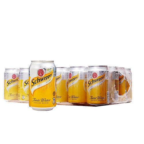 SCHWEPPES TONIC WATER (330ml x 24 CAN CARTON)