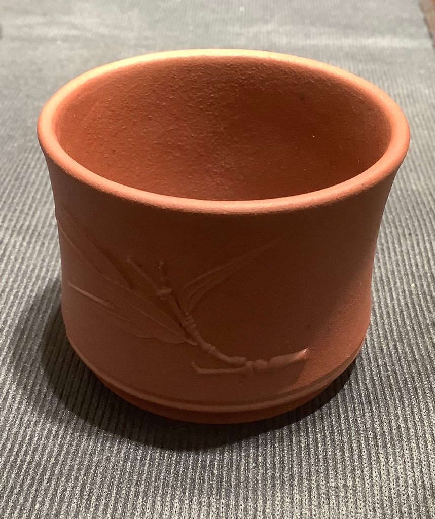 Bamboo Purple Clay Tea Cup 竹片紫砂茶杯