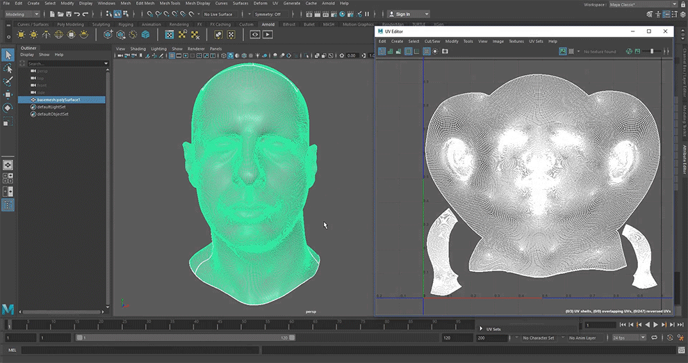 Transferring maps from a Single UV Layout to another with