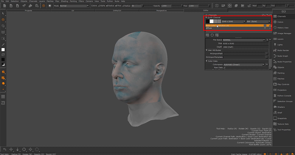 Transferring maps from a Single UV Layout to another with UDIM