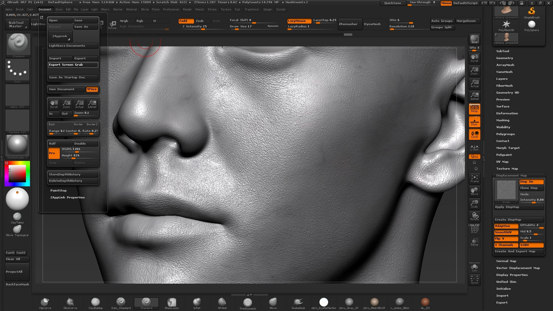 Salim Ljabli / One punch man head making of – Texturing xyz