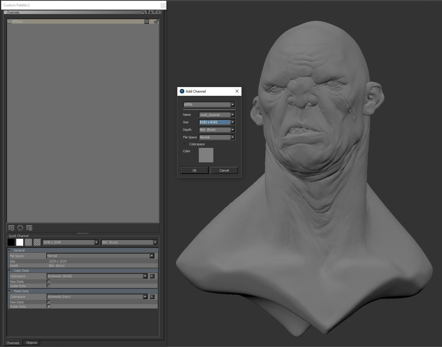 Tom Newbury / Making of Big Mean Giant – Texturing xyz