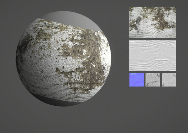 Painted concrete #01 - Texturing.xyz