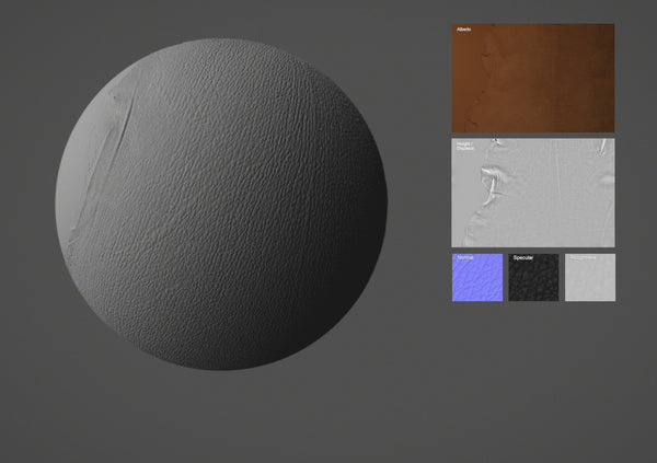 Lamb leather #09 - Texturing.xyz