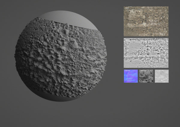 Rock wall #01 - Texturing.xyz