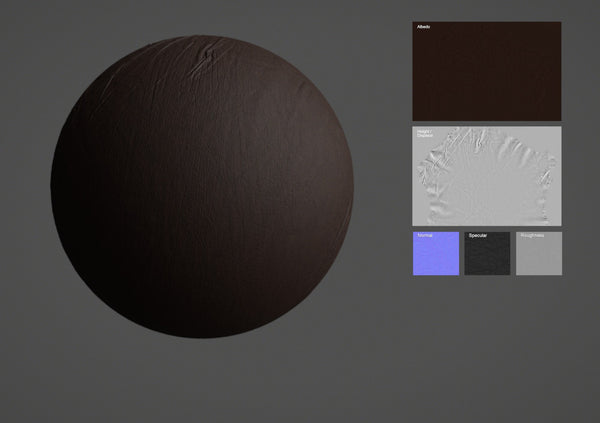 Lamb leather #02 - Texturing.xyz